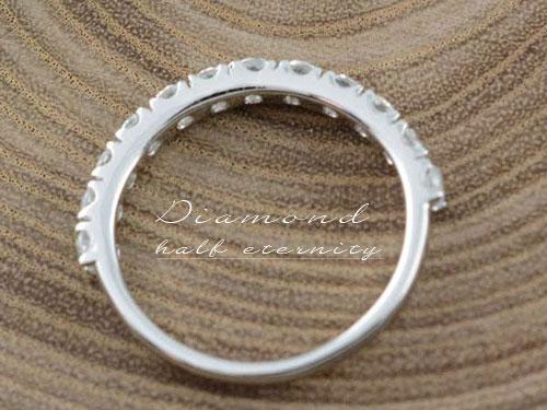 ダイヤモンド リング 指輪  k18 ダイヤモンドリング エタニティ ハーフエタニティ エンゲージリング 18k ホワイトゴールド ダイヤ 婚約指輪 結婚指輪 レディース  サマー