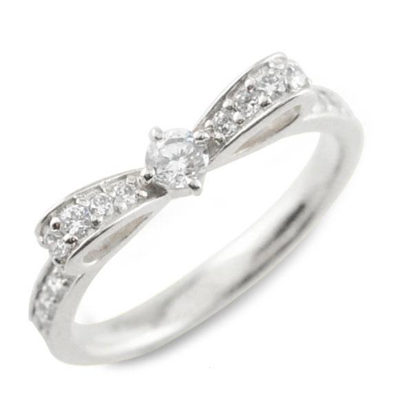 ピンキーリング リボンリング ダイヤモンドエンゲージリング リボン ダイヤモンドリング 指輪 ダイヤモンド プラチナ 900 ダイヤ pt900 婚約指輪 エンゲージリング 結婚指輪 レディース