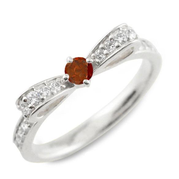 ガーネット ピンキーリング リボンリング リボン ダイヤモンド リング プラチナ 指輪 ダイヤモンド 誕生石 pt900 ダイヤ 婚約指輪 結婚指輪 レディース