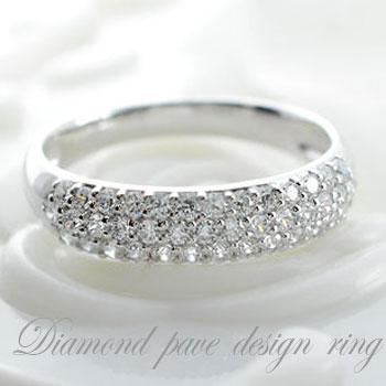 ダイヤモンド リング ホワイトゴールド k18 アンティーク レディース ピンキーリング 指輪 ダイヤ 0.5ct クラシカル パヴェ ダイヤ エレガント