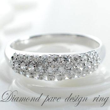 【送料無料】ダイヤモンド リングプラチナ アンティーク レディース ピンキーリング 指輪 ダイヤ 0.5ct クラシカル パヴェ ダイヤ エレガント クリスマス Xmas