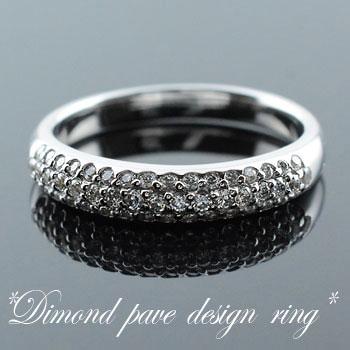 【送料無料】ダイヤモンド リング プラチナ アンティーク レディース ピンキーリング 指輪 ダイヤ 0.43ct クラシカル パヴェ ダイヤ エレガント ホワイトデー