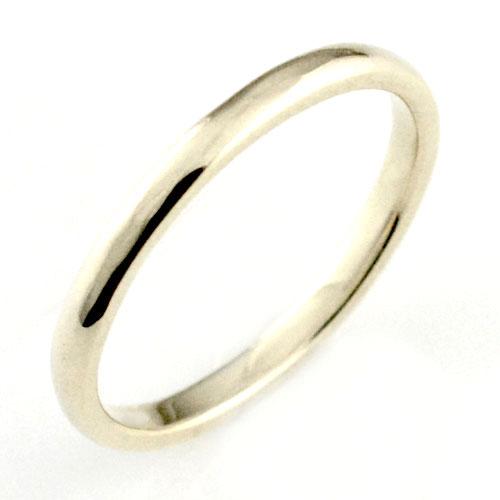 【送料無料】レディース リング ホワイトゴールドk18 シンプル k18 結婚指輪 エンゲージリング ハンドメイド 甲丸 18k 18金 2mm クリスマス Xmas