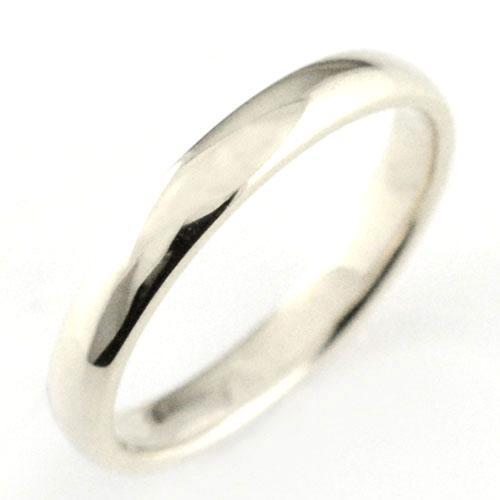 【送料無料】メンズ リング プラチナ シンプル 結婚指輪 エンゲージリング ハンドメイド 甲丸 pt900 3mm