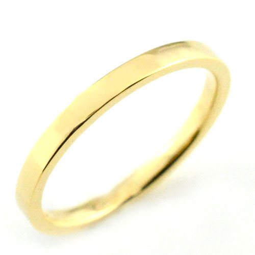 【送料無料】レディース リング イエローゴールドk18 シンプル k18 ストレート 平打ち 地金リング 結婚指輪 エンゲージリング ハンドメイド 18k 18金 2mm クリスマス Xmas