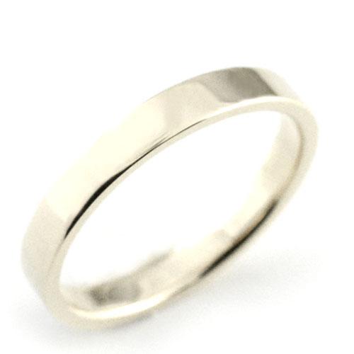 【送料無料】メンズ リング プラチナ シンプル ストレート 平打ち 地金リング 結婚指輪 ハンドメイド pt900 石なし 3mm