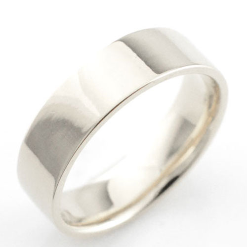 【送料無料】レディース リング プラチナ シンプル  ストレート 平打ち 地金リング 結婚指輪 エンゲージリング ハンドメイド プラチナ900 6mm ホワイトデー