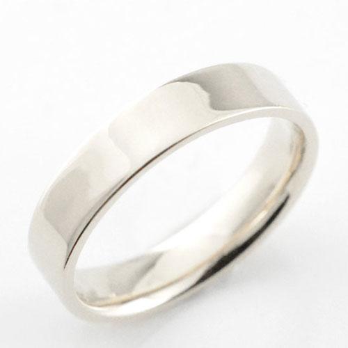 メンズ リング プラチナ シンプル ストレート 平打ち 地金リング 結婚指輪 エンゲージリング ハンドメイド 4mm