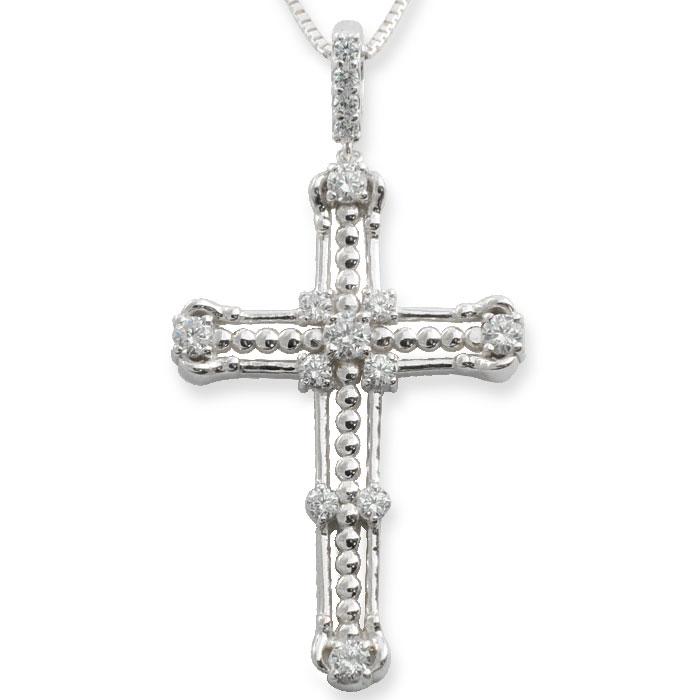 ネックレス メンズ クロスネックレス ダイヤモンド ダイヤ pt900 pt850 プラチナ クロス ペンダント クロスペンダント レディース 十字架 ベネチアン アンティーク