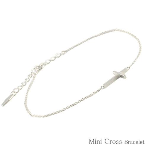 【送料無料】ブレスレット クロス k10 ゴールド 十字架 ブレス レディース ブレス 10k 10金 華奢 地金 ホワイトゴールド クリスマス Xmas