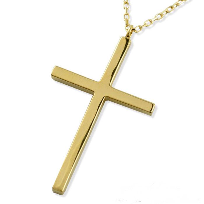 ネックレス クロスネックレス k18 18k 18金 クロス ペンダント ゴールド クロスペンダント シンプル 地金 十字架 華奢 プレゼントに
