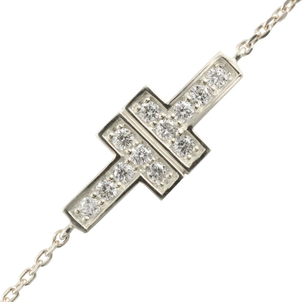 【送料無料】ブレスレット プラチナ pt900 pt pt850 ダイヤモンド ダイヤ ダイヤモンドブレスレット レディース ブレス 華奢 t t字