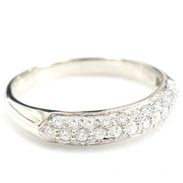 【送料無料】ダイヤモンド リング k18 パヴェ 指輪 ゴールド レディース 華奢 ホワイトゴールド ハンドメイド 18k 18金 ホワイトデー