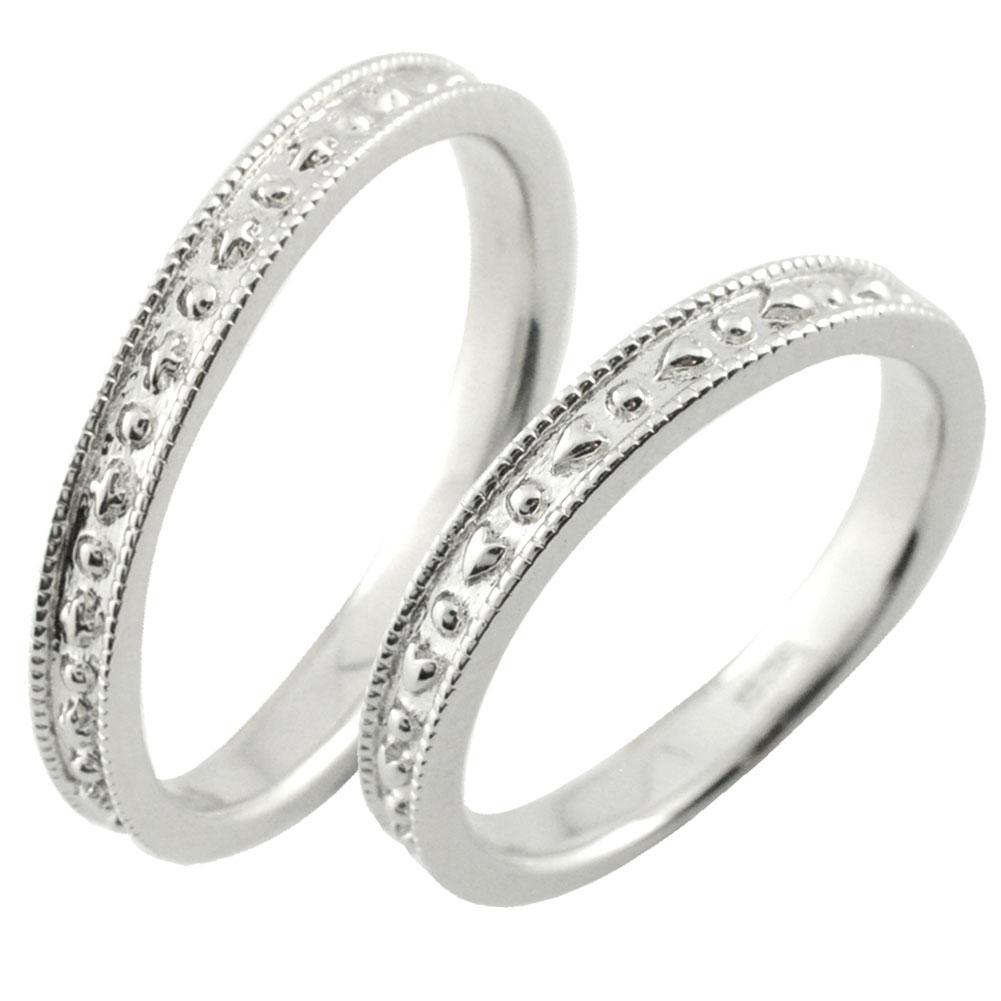 ペアリング リング ホワイトゴールド k18 18k   ペアリング 指輪 リング ホワイトゴールド k18 ミル打ちデザイン シンプル ゴールド デザインリング 18k 18金 地金リング 結婚指輪 エンゲージリング レデース メンズ ハンドメイド