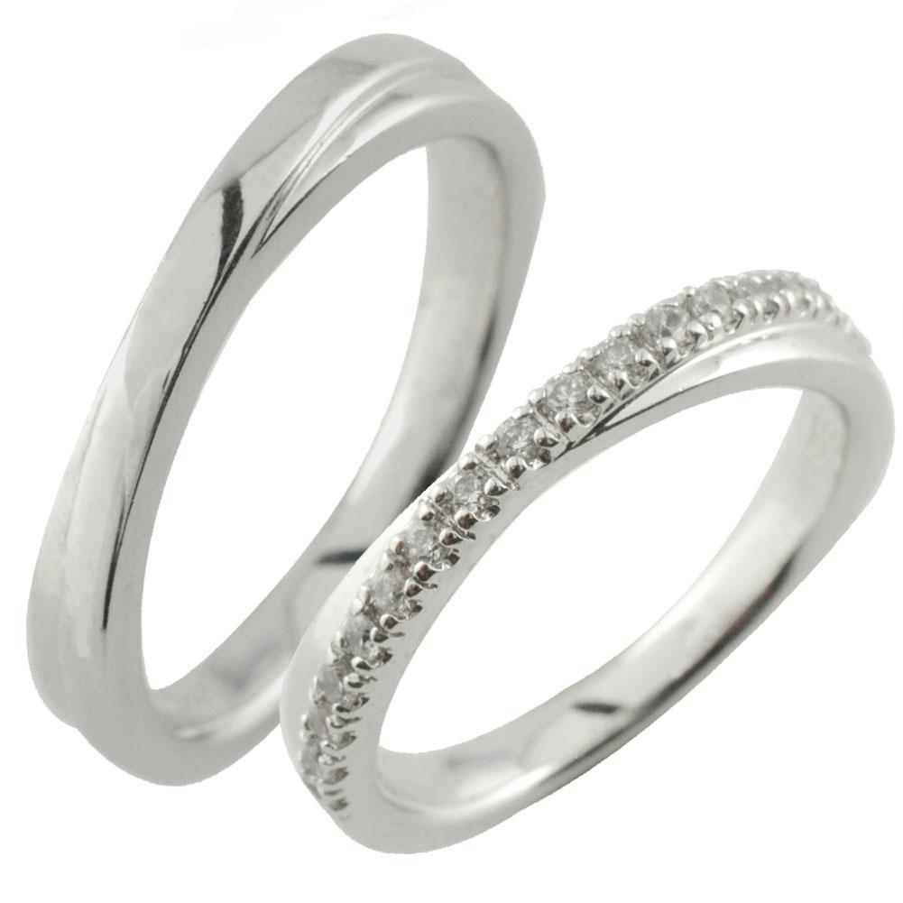 ペアリング 指輪 リング ホワイトゴールド k10 シンプル ゴールド デザインリング 10k 10金 ダイヤモンド 地金リング 結婚指輪 エンゲージリング レデース メンズ ハンドメイド クリスマス xmas