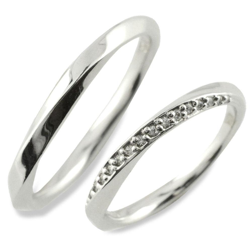 ペアリング 指輪 リング シルバー sv925 シンプル デザインリング シルバー925 ダイヤモンド 地金リング 結婚指輪 エンゲージリング レデース メンズ ハンドメイド
