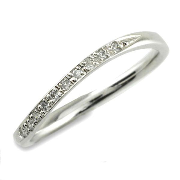 指輪 リング ダイヤモンドリング ダイヤモンド シンプルリング プラチナ プラチナ900 pt900 レディース 華奢 ウエーブ 曲線