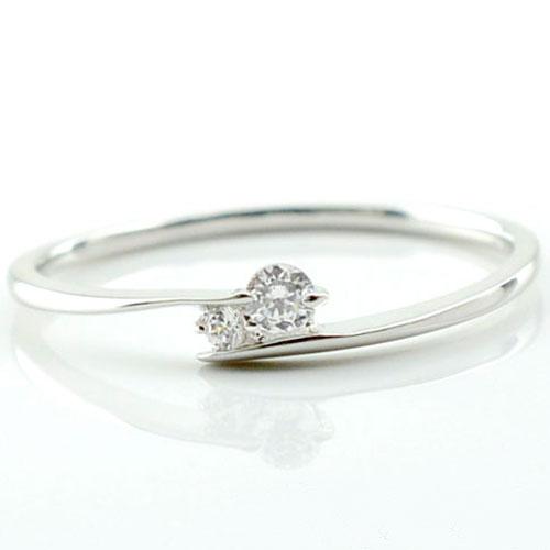 【送料無料】指輪 リング ダイヤモンド ダイヤモンドリング ダイヤ ピンキーリング ホワイトゴールドK10 10K 10金 レディース クリスマス Xmas