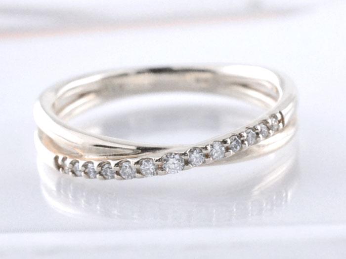 【送料無料】リング ダイヤモンド 指輪 クロス プラチナ pt900 クロスライン プラチナ900 重ねづけ 華奢 レディース 天然石 クリスマス Xmas