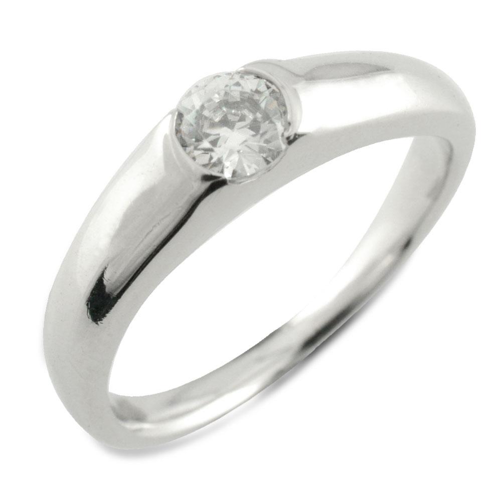 リング ダイヤモンドリング 指輪 プラチナ 一粒 埋め込み ダイヤモンド pt900 レディース ダイヤ