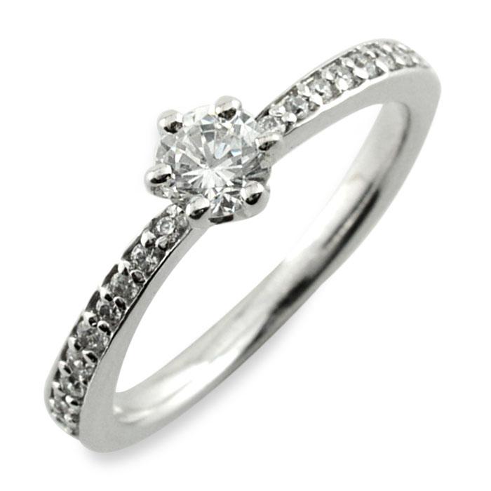 リング ダイヤモンドリング 指輪 ホワイトゴールド ダイヤモンド 18k k18 18金 レディース ダイヤ 4月 人気 おしゃれ シンプル