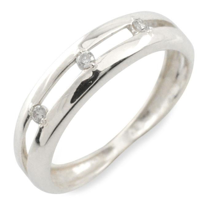 【送料無料】ダイヤモンド リング 指輪 k10 ダイヤ ゴールド ピンキーリング ホワイトゴールド 10k 10金 華奢 レディース 誕生石 天然石 3石 重ねづけ クリスマス Xmas