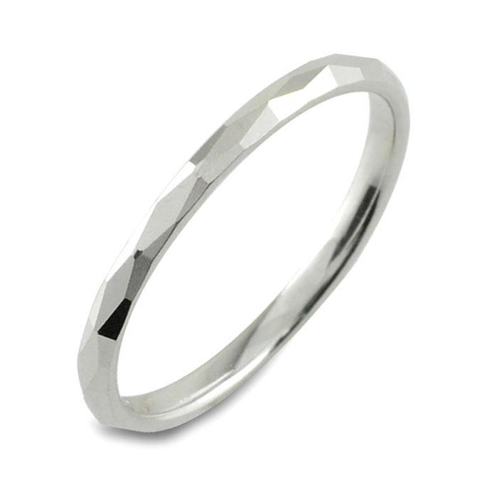 【送料無料】メンズ カットリング ホワイトゴールド k10 10k 10金 地金リング 甲丸 リング シンプル 結婚指輪 ハンドメイド