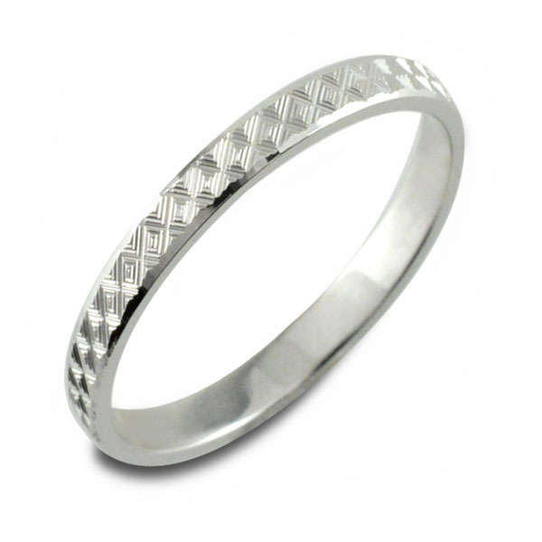 メンズ カットリング 地金リング 平打ち ホワイトゴールド k18 リング シンプル 結婚指輪 ハンドメイド 18k