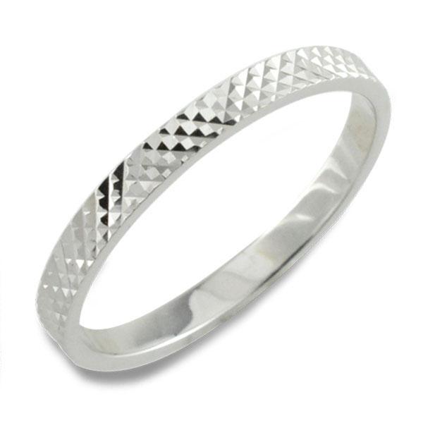 【送料無料】メンズ カットリング 地金リング 平打ち ホワイトゴールド k10 リング シンプル 結婚指輪 ハンドメイド 10k 10金 ホワイトデー
