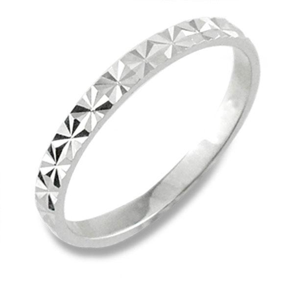 メンズ カットリング 地金リング 平打ち ホワイトゴールドk18 リング シンプル 結婚指輪 ハンドメイド 18k 18金