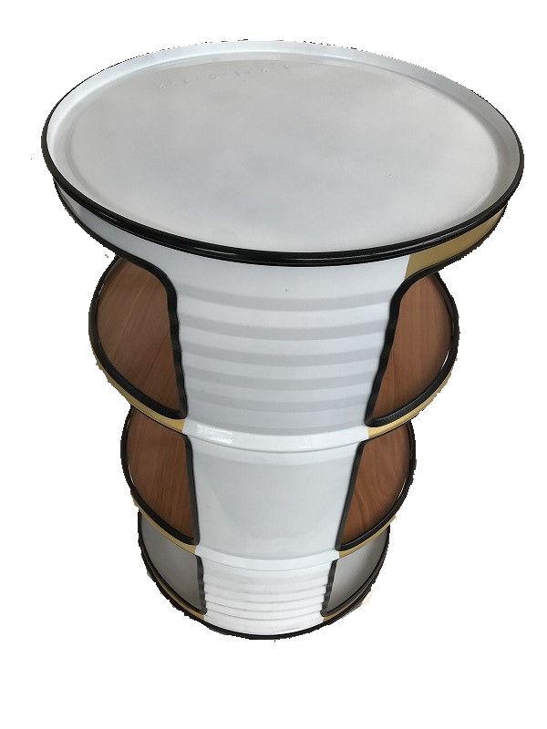 キャニチャー オープンシェルフ ホワイト(TA-11 SHELF WHT ) 棚 シェルフ おしゃれ 家具 ドラム缶 ガーデンファニチャー