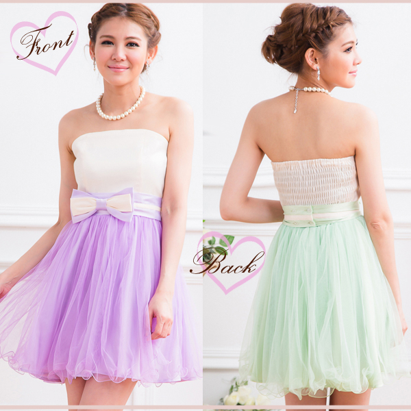 Party dress minidress wedding ceremony second party dress big size high waist ribbon short dress sherbet color by color one piece yj12311