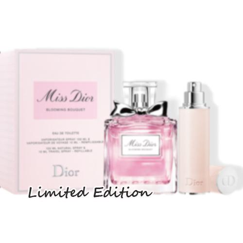 DIORミスディオールブルーミングブーケとリフィラブルスプレーのセット WEB限定 Dior 売買 ディオール ミス ブーケ トラベルスプレー 100mL+10mL ブルーミング