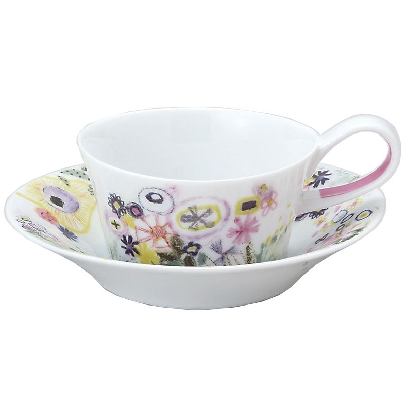 Shinji Kato tea gift package with Cup \u0026 Saucer flower design Perfume designer tableware made in Japan pottery stylish tableware celebration gifts life ...  sc 1 st  Rakuten & Cinemacollection | Rakuten Global Market: Shinji Kato tea gift ...