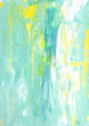 【取寄品】【送料無料】Terquoise and Yellow Abstract Art Painting インテリアパネル パネルフレーム IAP51596 キャンバス モダンアート 600×800mm お洒落インテリア通販