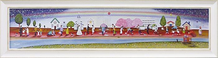 取寄品 なかの まりの 風景画 額付きポスター 人生のレッドカーペット L 和洋折衷