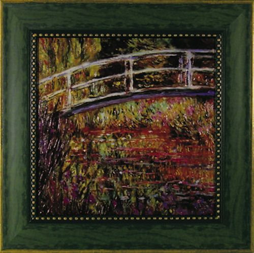 【取寄品】【送料無料】クロード・モネ 日本風の橋 額付きポスター インテリアアート 名画 印象派 通販