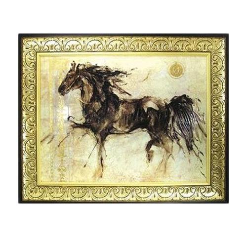【取寄品】【送料無料】ゴットフライド・マルタ ウィングラン 額付きポスター インテリアアート 馬疾走 通販