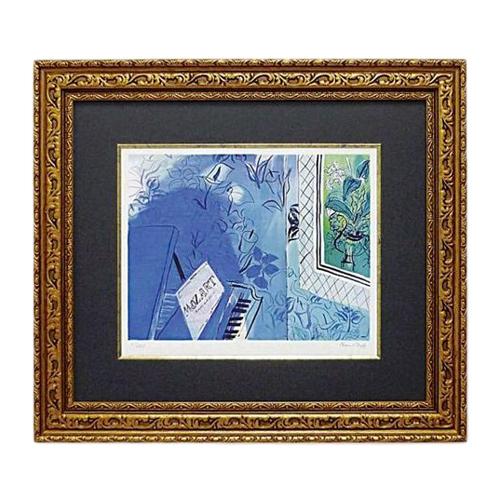 【取寄品】【送料無料】ラウル・デュフィ モーツァルトに捧ぐ 額付きポスター インテリアアート 名画 通販2/21朝10時まで