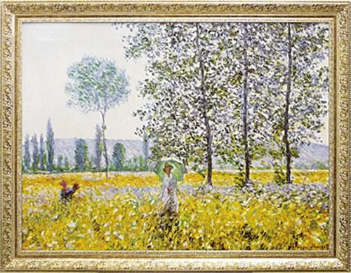【取寄品】【送料無料】クロード・モネ Champs au Printemps 1884 額付きポスター 名画インテリアアート通販