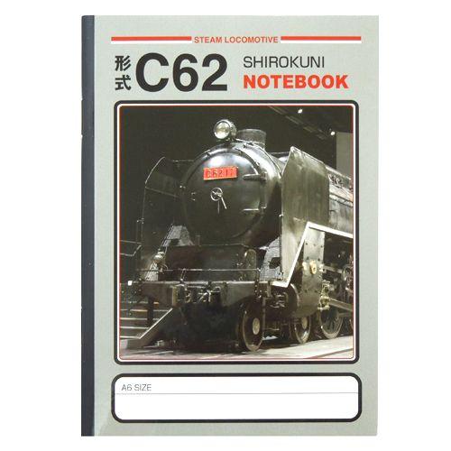 RAILWAY C62形蒸気機関車 275339 限定価格セール A6ミニノート 鉄道 電車グッズ 文具 キッズ 休み メール便可 文房具 通販