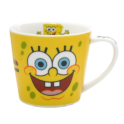 スポンジボブ フェイス 初売り 陶器製マグカップ 通販 食器 アニメキャラクターグッズ AL完売しました。