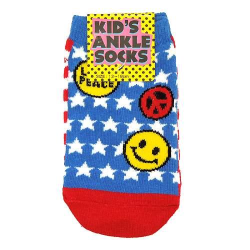 US FLAG アメリカ国旗 値引き キッズアンクルソックス オーバーのアイテム取扱☆ かわいい子供用靴下 靴下 メール便可 子供用 かわいい 通販