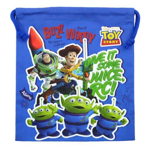 cinemacollection toy story blue drawstring bag m boy anime school back to school gadgets store. Black Bedroom Furniture Sets. Home Design Ideas