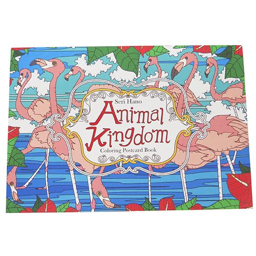 8 Adult Coloring Book Postcards Cards Set HANO Torrents Animal Kingdom Heart Art Collection Made In Japan Cute Toy Store Cinema