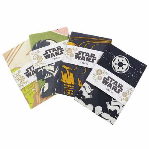 """Star Wars / washcloth towel • Japanese design Tenugui """"Galactic Empire"""" ☆ heart art collection (34 × 90 cm) made in Japan / anime toy store ☆ ◆"""