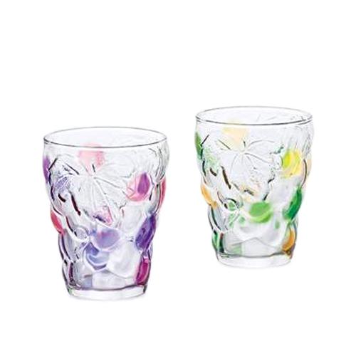ぶどうのグラス グラスカップ タンブラー2個セット VP&GA アデリア 260ml×2 日本製 ギフト雑貨石塚硝子通販 シネマコレクションお買い物マラソン3800円でクーポン 8/9まで