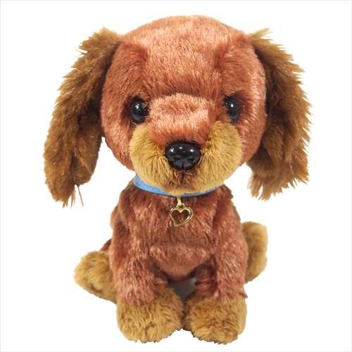 ぬいぐるみ PUPS S ミニチュア・ダックス ブラウン 犬 サンレモン 16cm DOG キャラクターグッズ【あす楽】シネマコレクション【ママ割】  エントリーで3倍 5/13まで