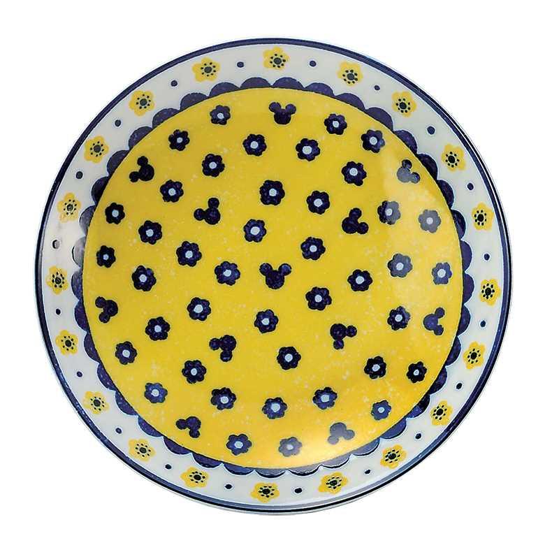 미키 마우스 식탁 기프트 세트 파스타 접시 5 매 세트 Polish 시리즈 디즈니 삼국 시대 도자기 21.5 cm 중 접시 × 5 선물 류 캐릭터 상품 쇼핑몰 시네마 컬렉션