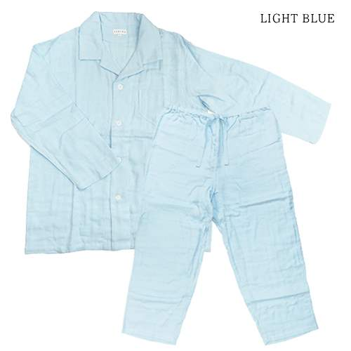 Pajamas Marshmallow gauze Pajamas mens mens UCHINO 101% cotton relaxed home ware goods store cinema collection all points 10 times 11 / 24 3,800 yen coupon distribution in